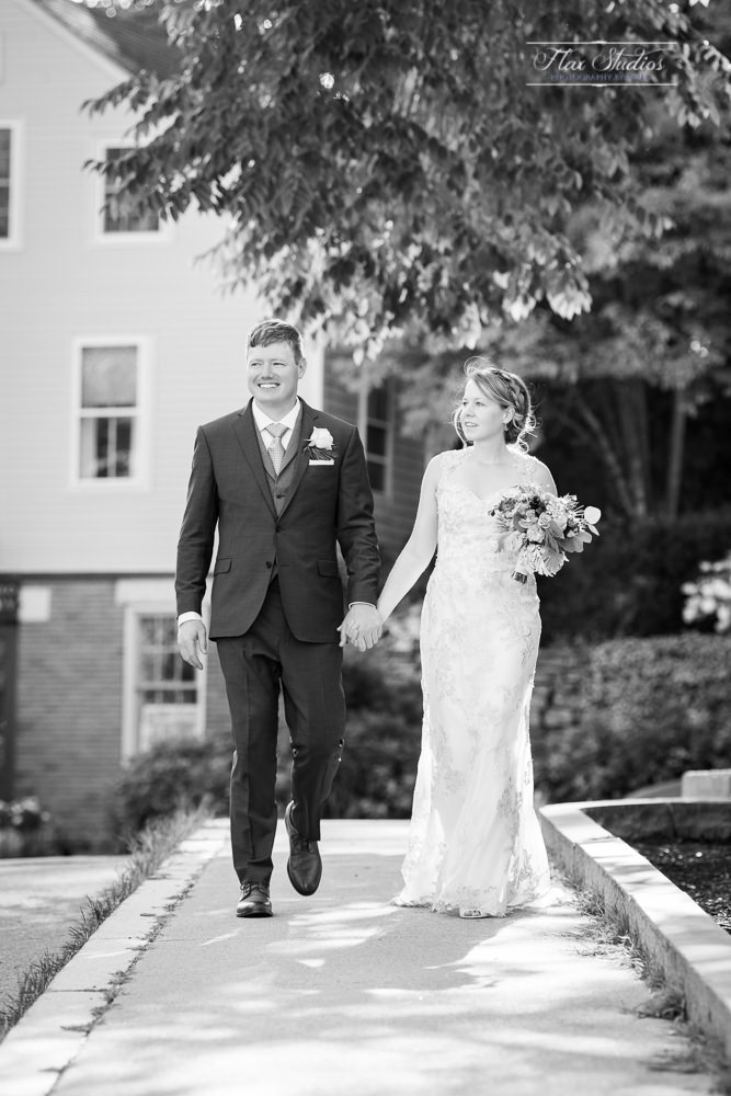 black and white wedding photos at the camden library