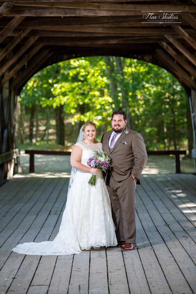 Sunday river bridge bride and groom photos