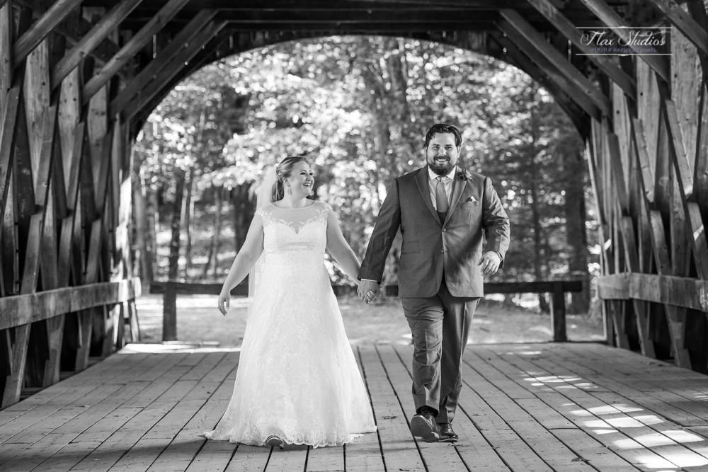 black and white classic wedding photo