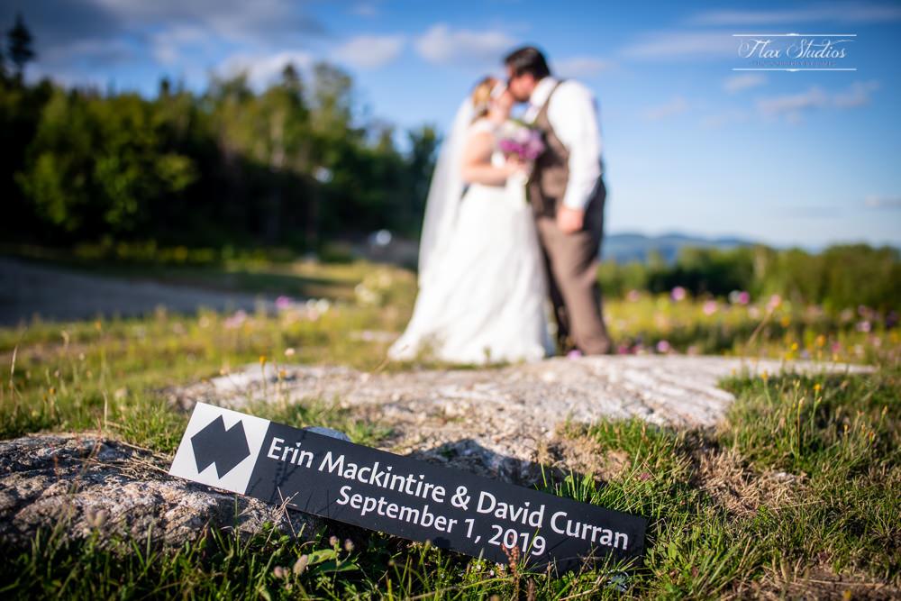 custom ski wedding signs