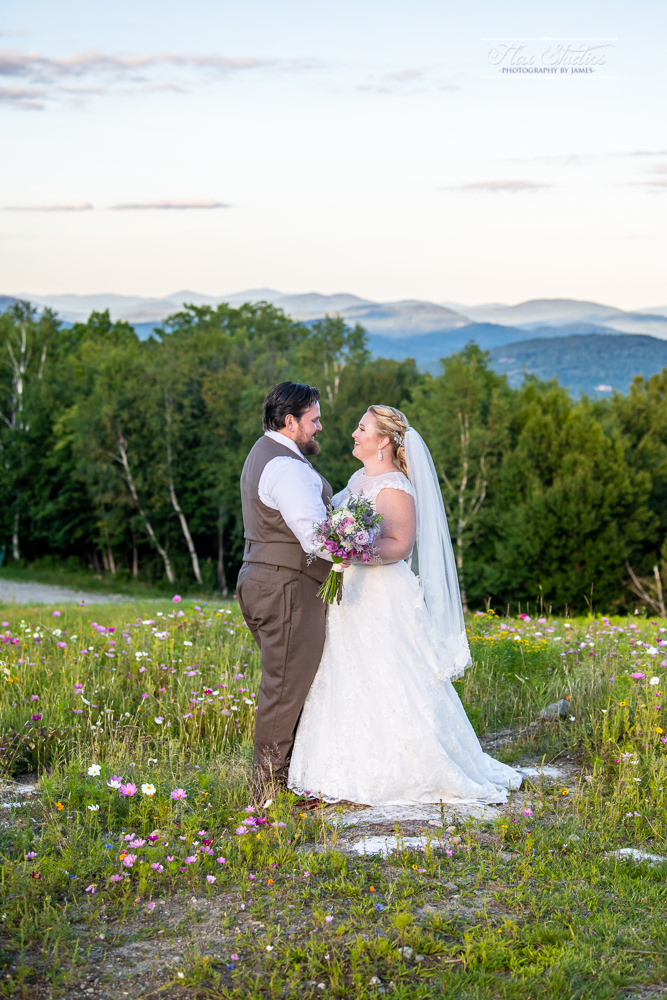 sunday river wedding mountain views