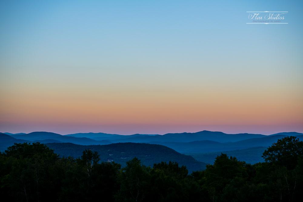 Sunday River Sunset from North Peak Lodge