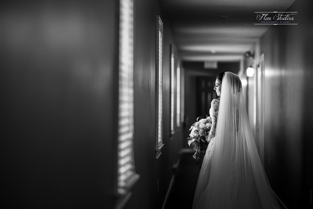 wedding portrait of the bride at the lucerne inn