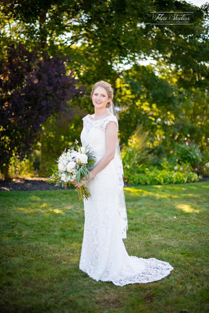 bridal portrait in the garden