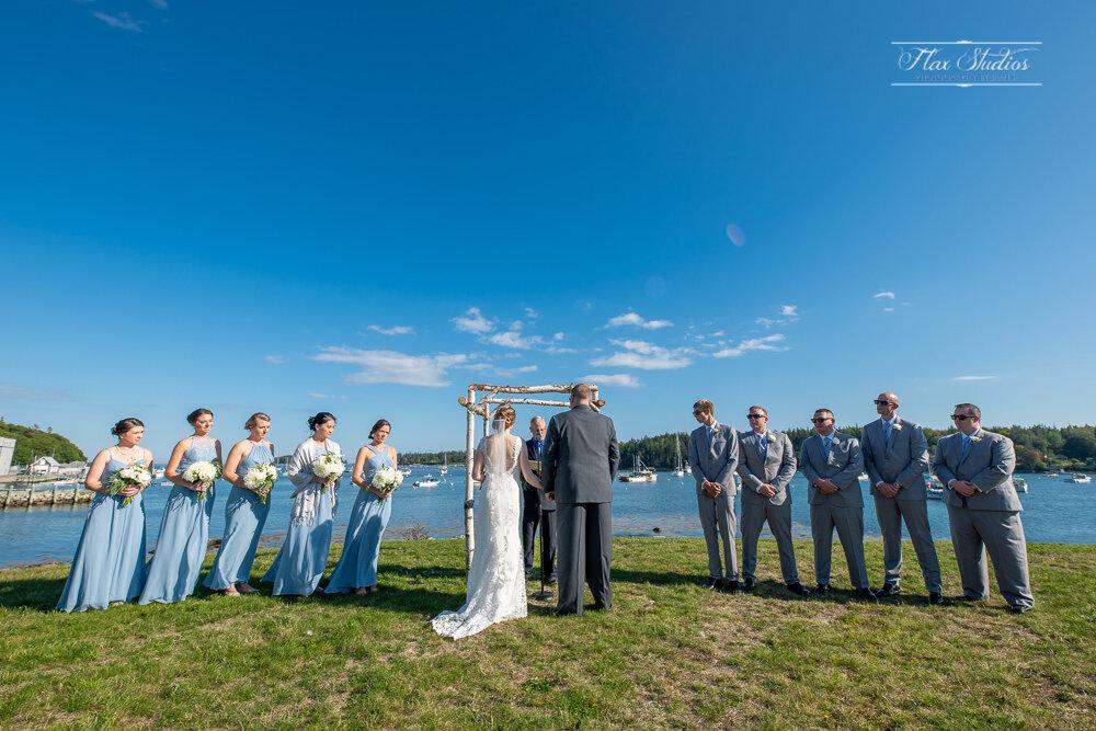 ultrawide photo of the wedding ceremony