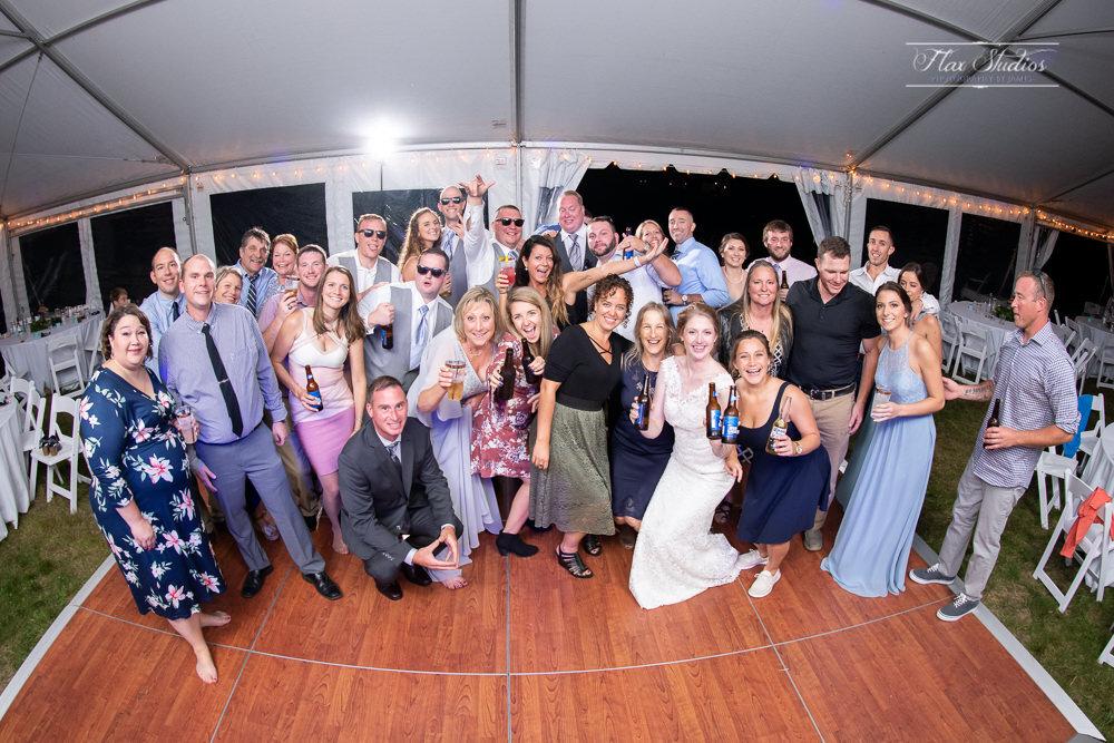 group photo on the dance floor