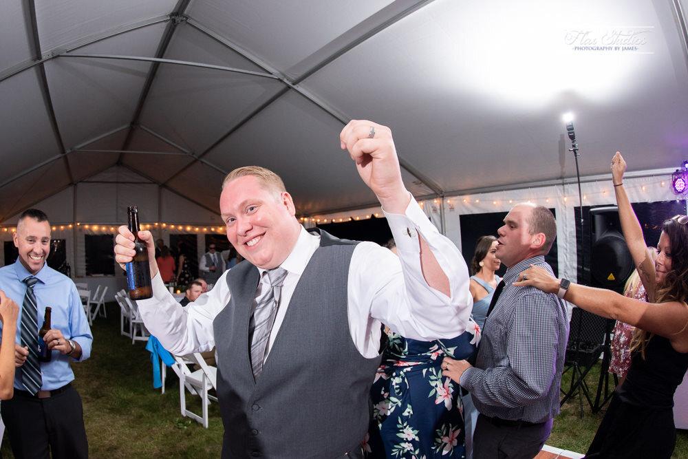 congo line at the wedding