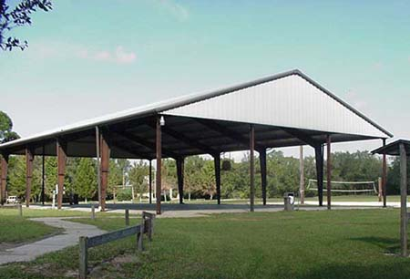 Sport facilities include soccer and softball fields, and basketball and volleyball courts.