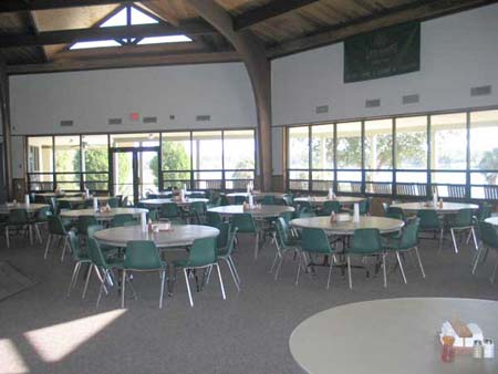 The cabins, dining area and meeting rooms are air-conditioned.