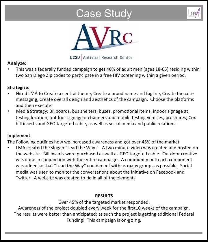 AVCR Case Study