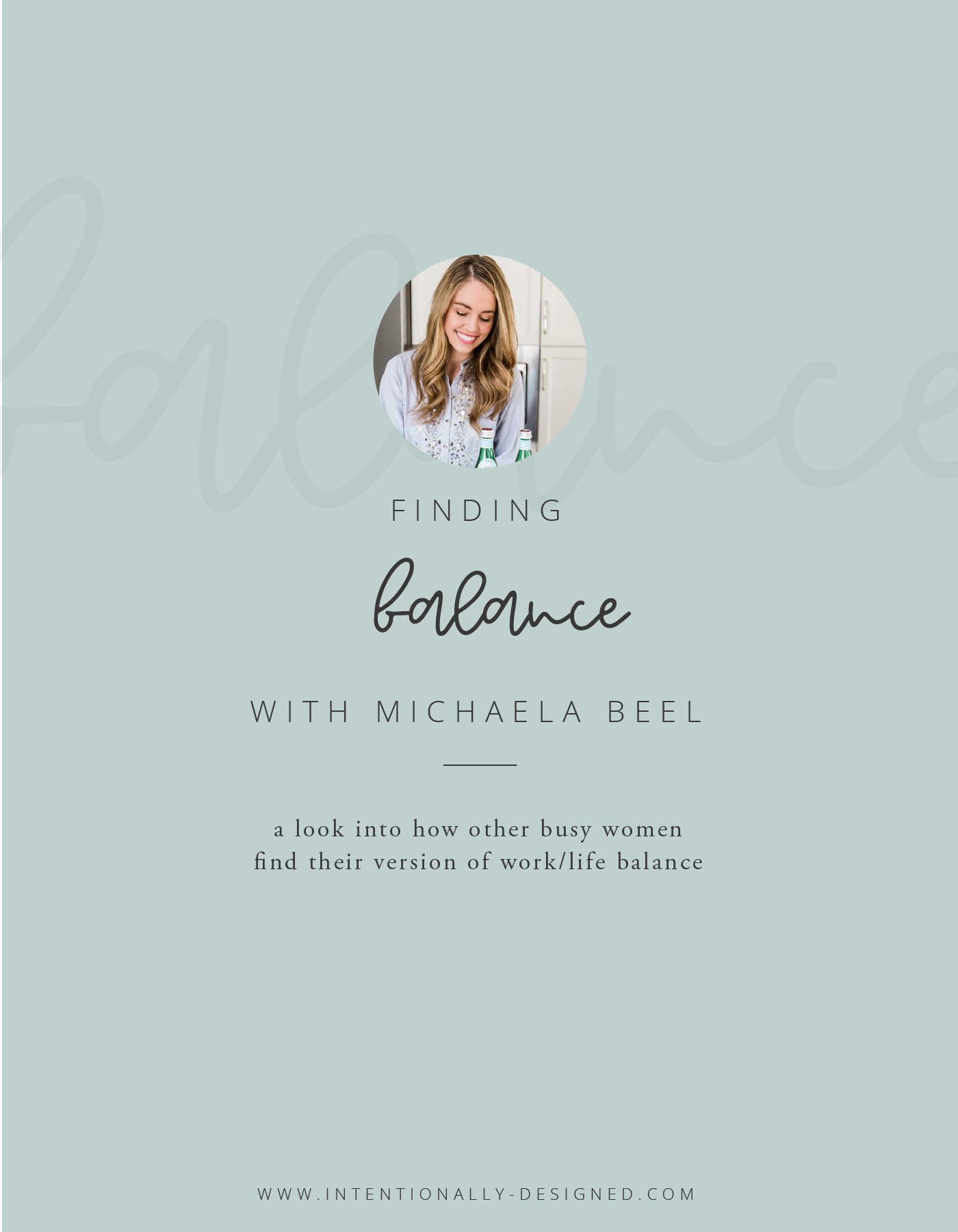 Finding Balance Series Michaela Beel