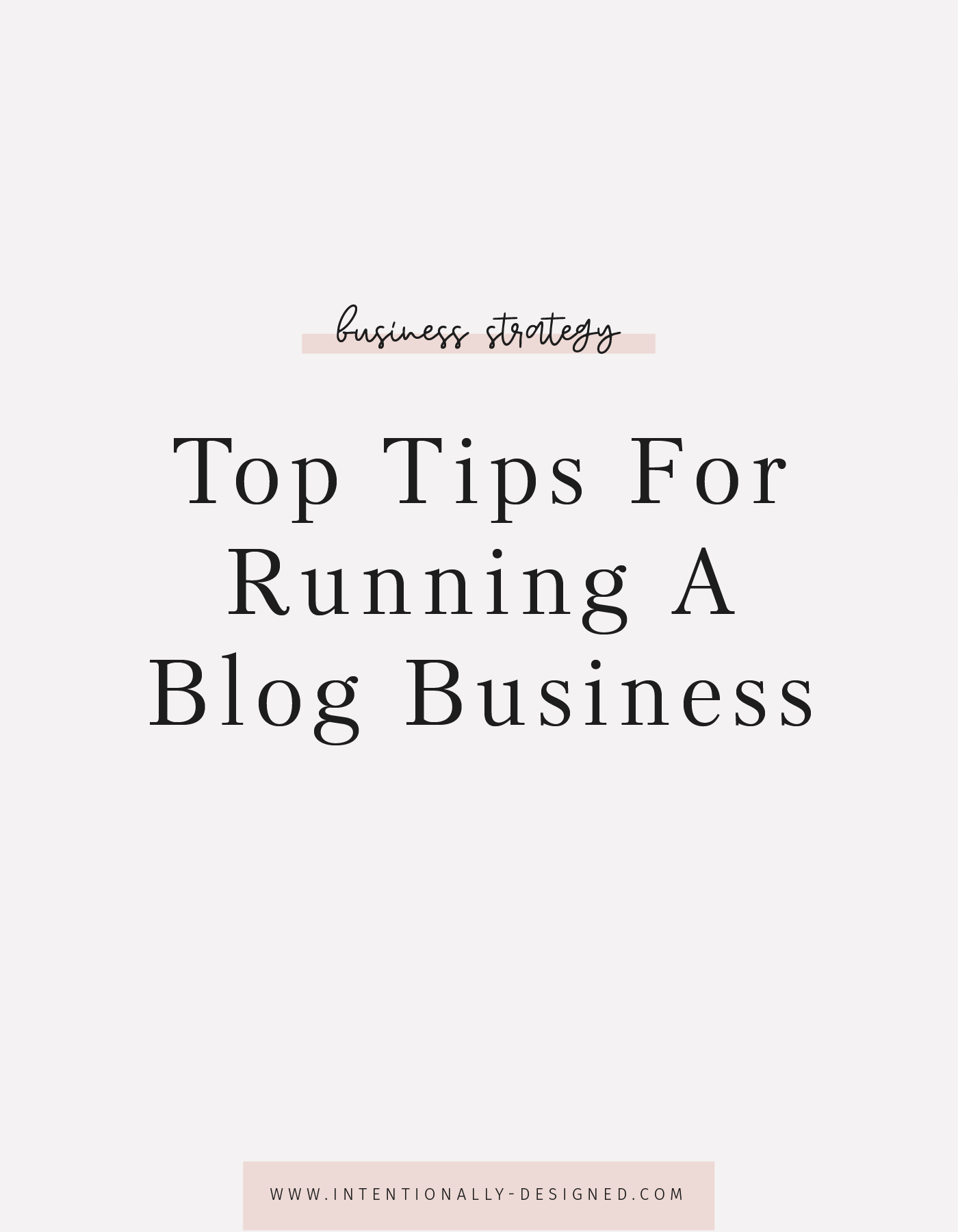 running a blog business