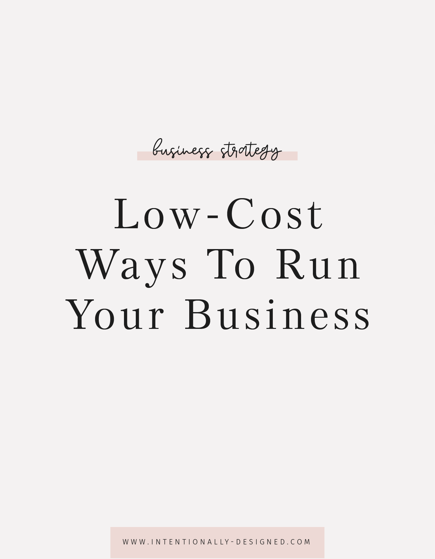 Low-Cost Ways To Run Your Business
