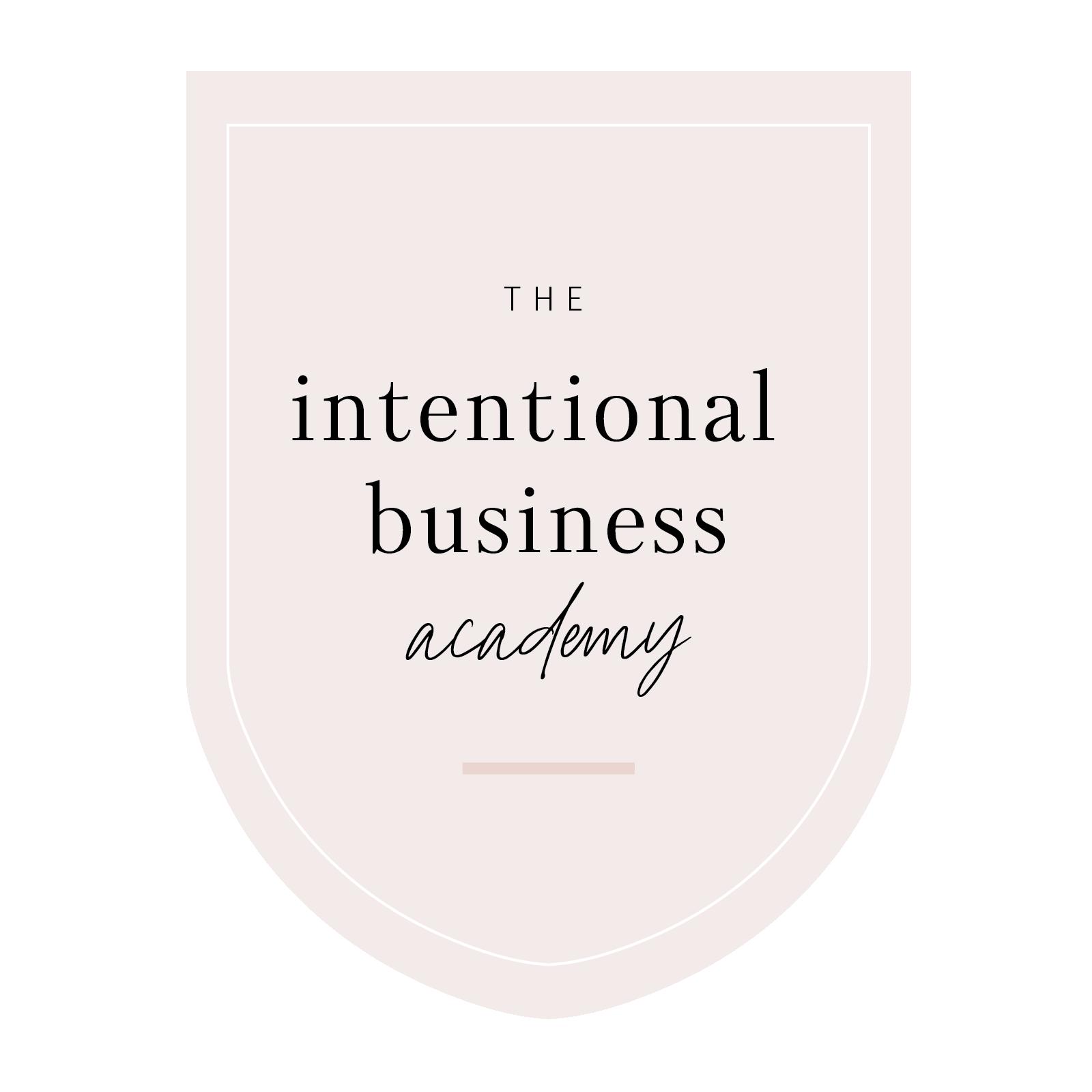 Intentional Business Academy Enrollment