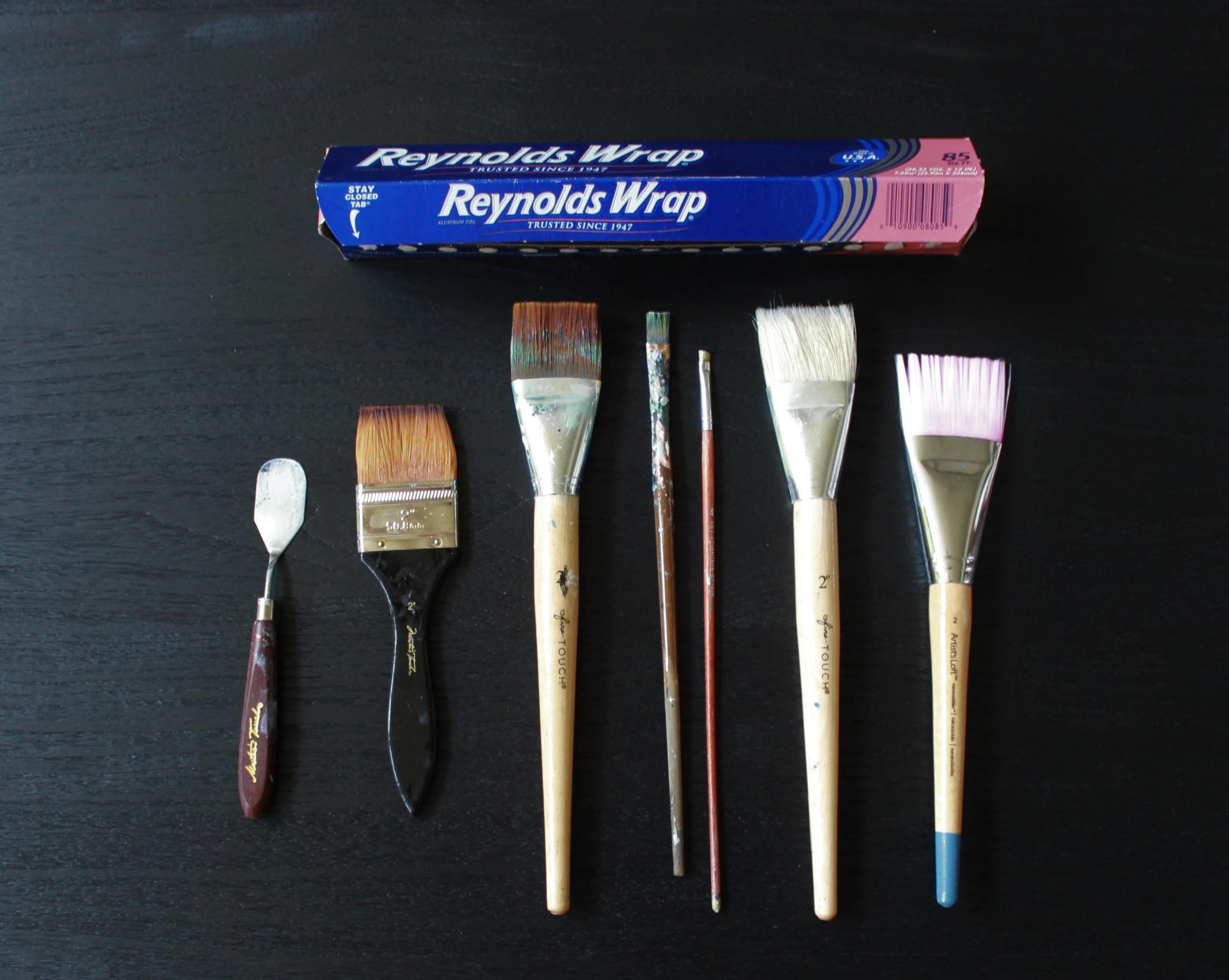Aluminum foil makes a good inexpensive disposable palette