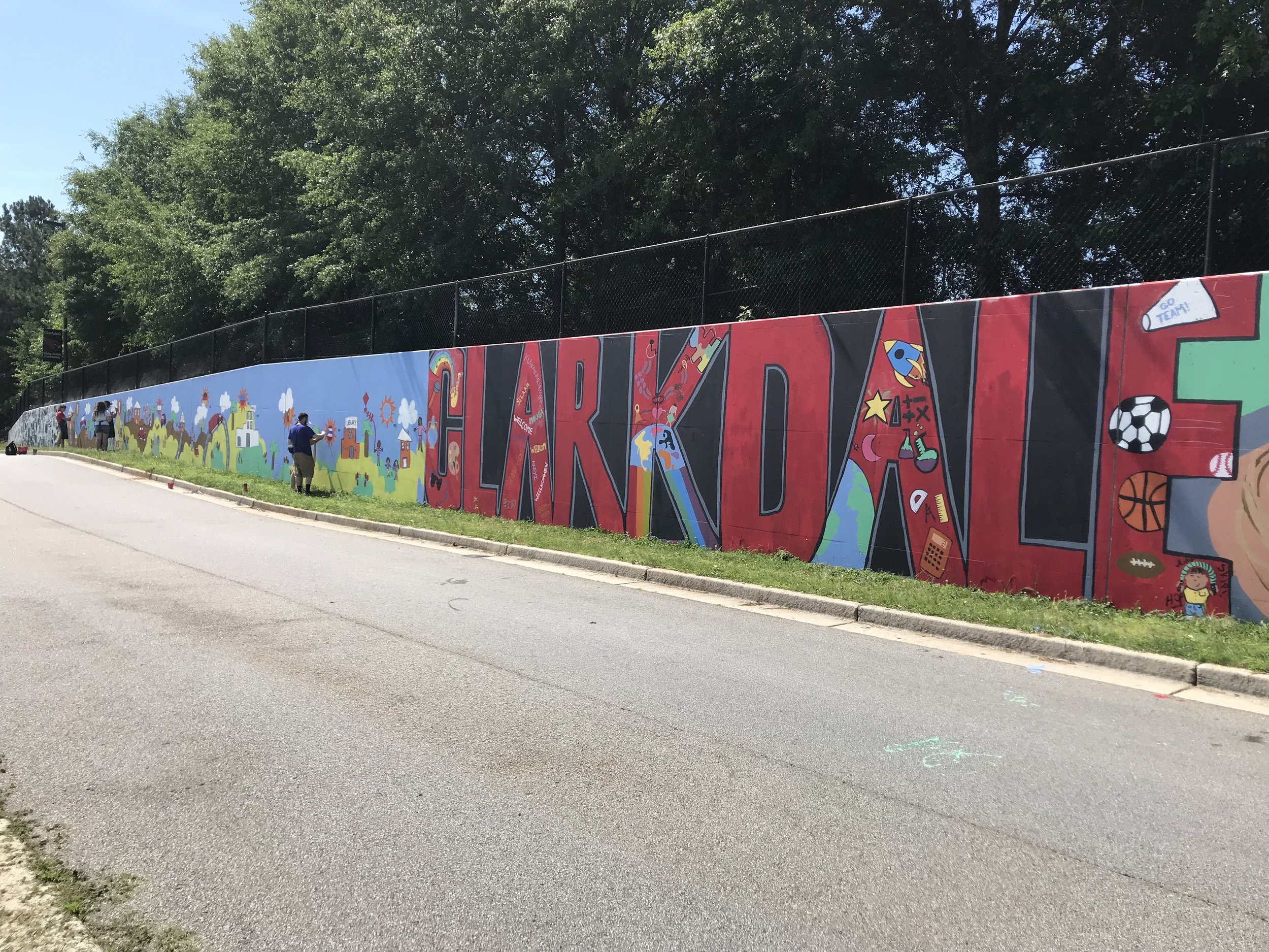 Paint Love mural at Clarkdale Elementary School