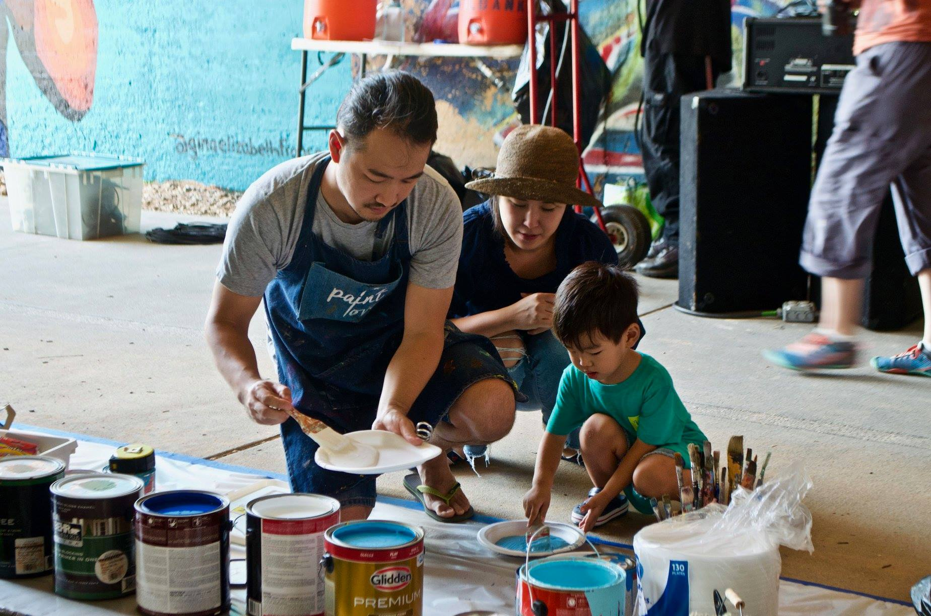 Paint Love at Family Paint Day on the Atlanta Beltline Westside Trail
