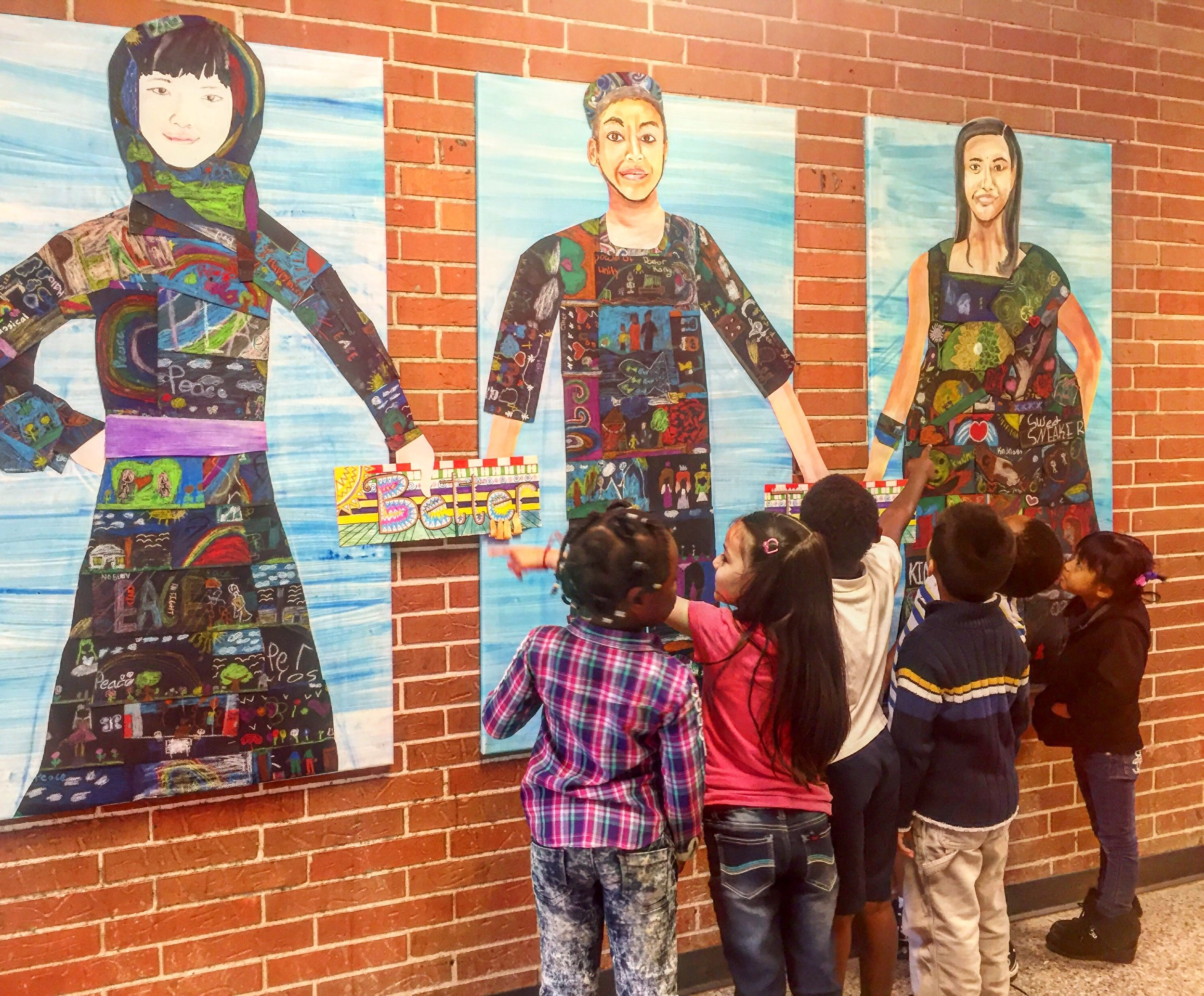 """Better together"" mural at Indian Creek Elementary School"