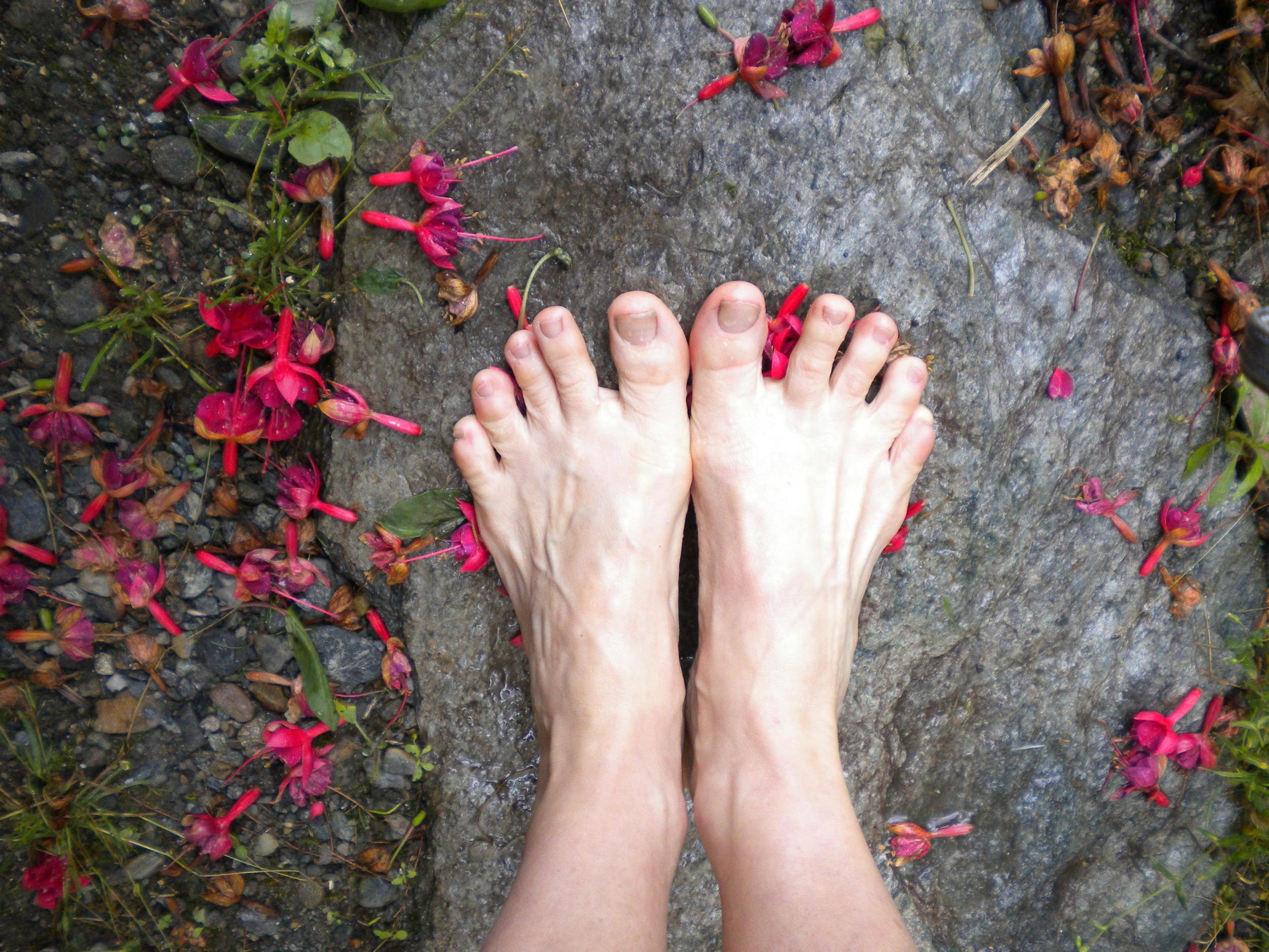 feet and fuchsia