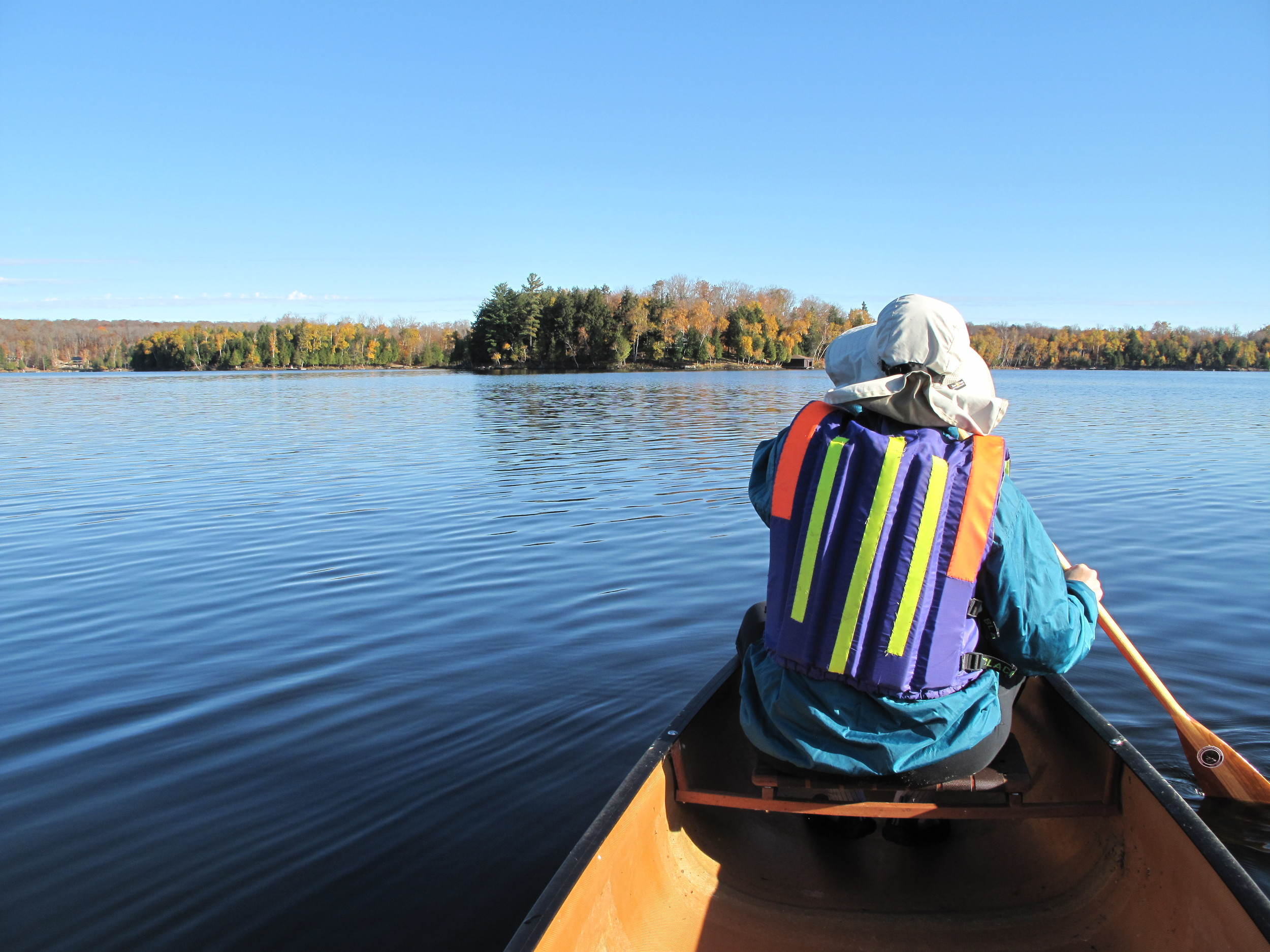 paddling gives ample time to enjoy the scenery