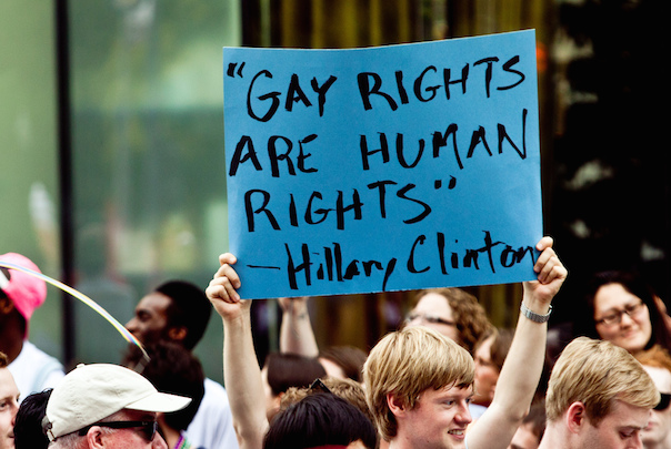 Gay right are human rights - Hilary Clinton (huffingtonpost.com- need to find source).jpg