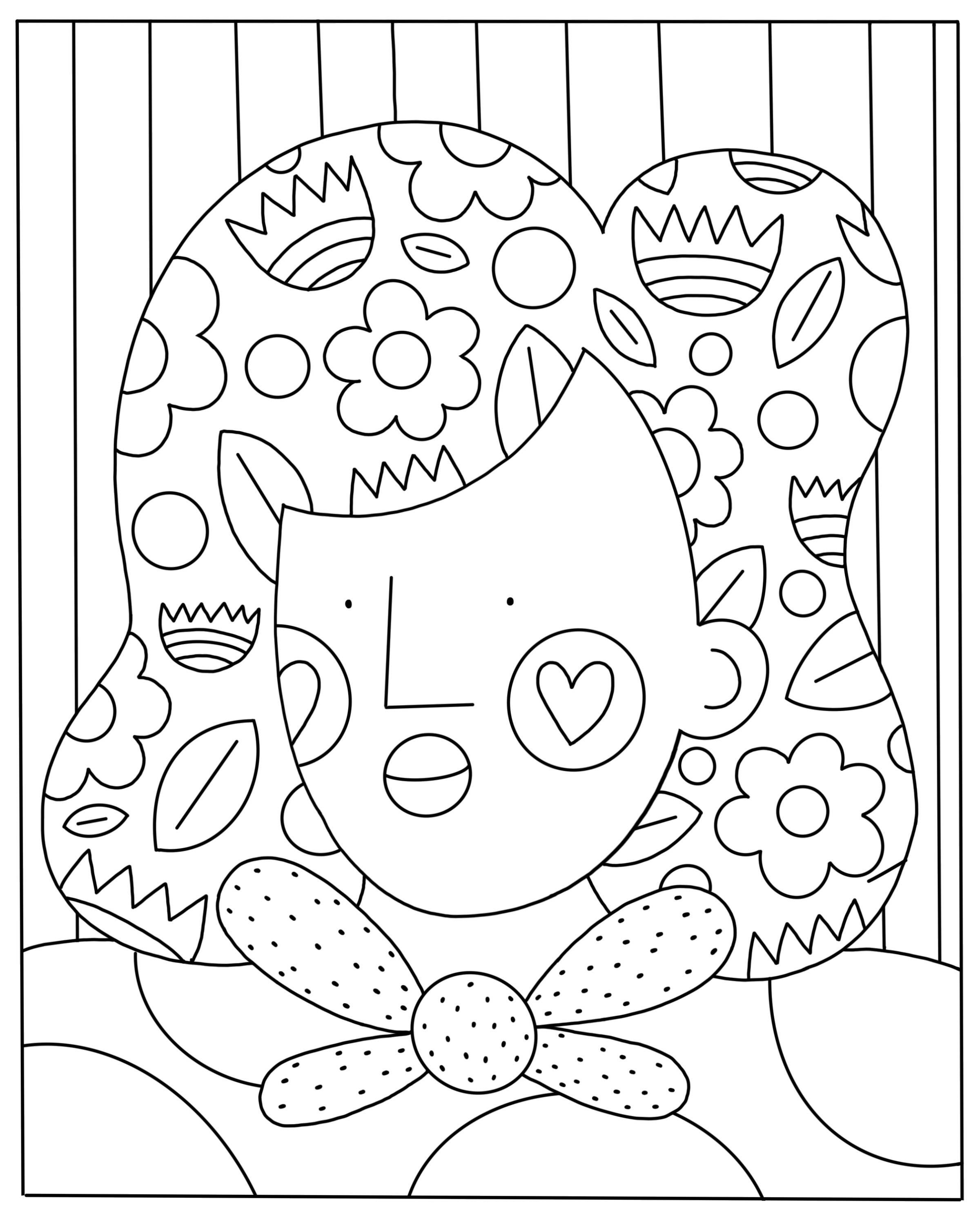 Free Stay Home, Stay Safe House Coloring Page - Make Breaks | 1250x1000