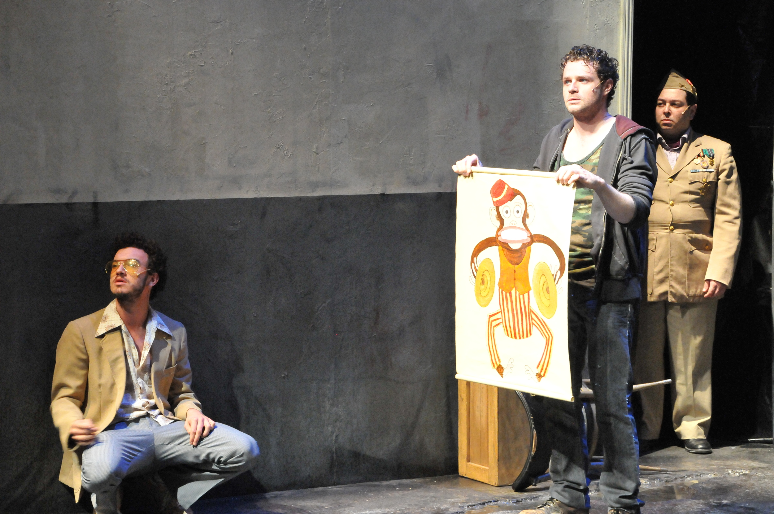 """""""In The Shotgun Players' top-notch production of Woyzeck , director Mark Jackson injects a hipster grunge aesthetic into this desolate, hope-dashing farce… In Jackson's smart and dynamic production, looking into the abyss was never so enjoyable.""""     EAST BAY EXPRESS"""