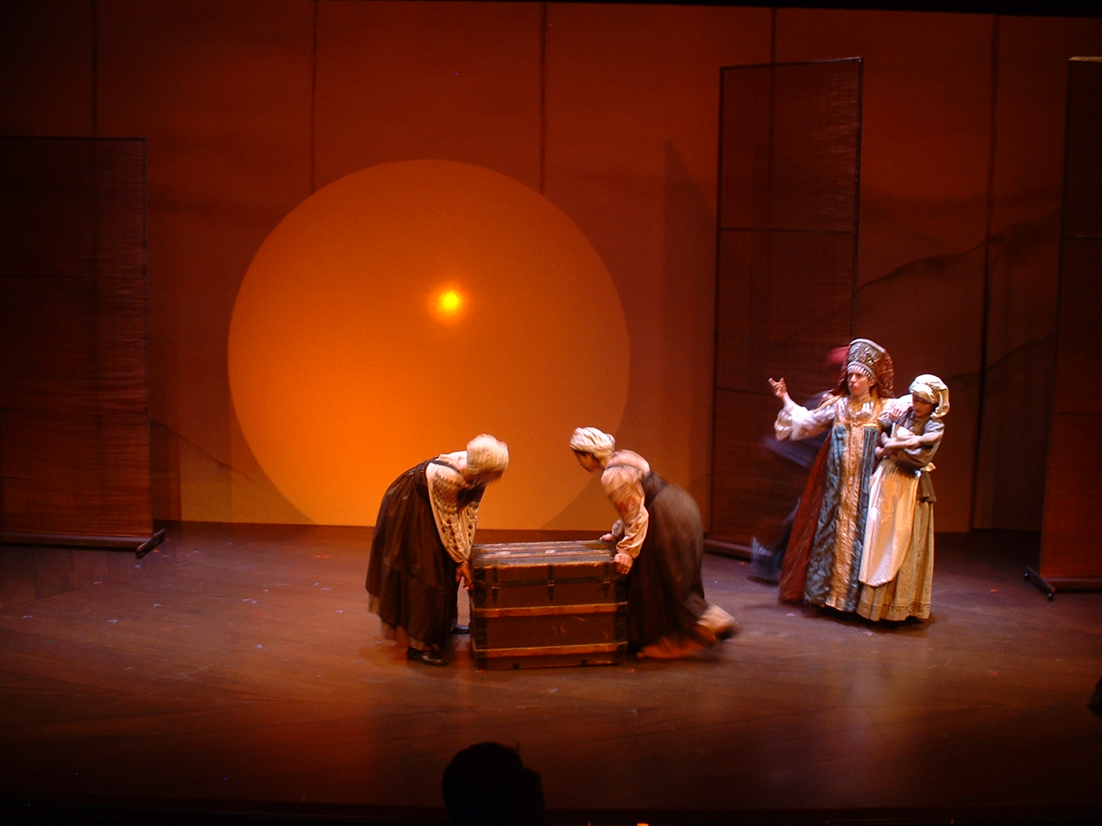 """""""The seemingly simple, fecund theatricality of Bertolt Brecht's great parable comes richly to life in Mark Jackson's inventively staged 2 1/4-hour production for the American Conservatory Theater's Master of Fine Arts Program… It's a good match of playwright and director. Jackson, the founder of Art Street Theatre, knows his 20th century radical theater well, as he proved by writing and directing the brilliant The Death of Meyerhold with Shotgun Players in '03… Jackson blends most of the performances well and does a beautiful job developing the two stories that converge in Brecht's plot. And he's staged the action fluidly and humorously, with evocative visual and aural beauty and simplicity. Adesperate venture across a broken suspension bridge is stunningly staged.""""     SAN FRANCISCO CHRONICLE"""