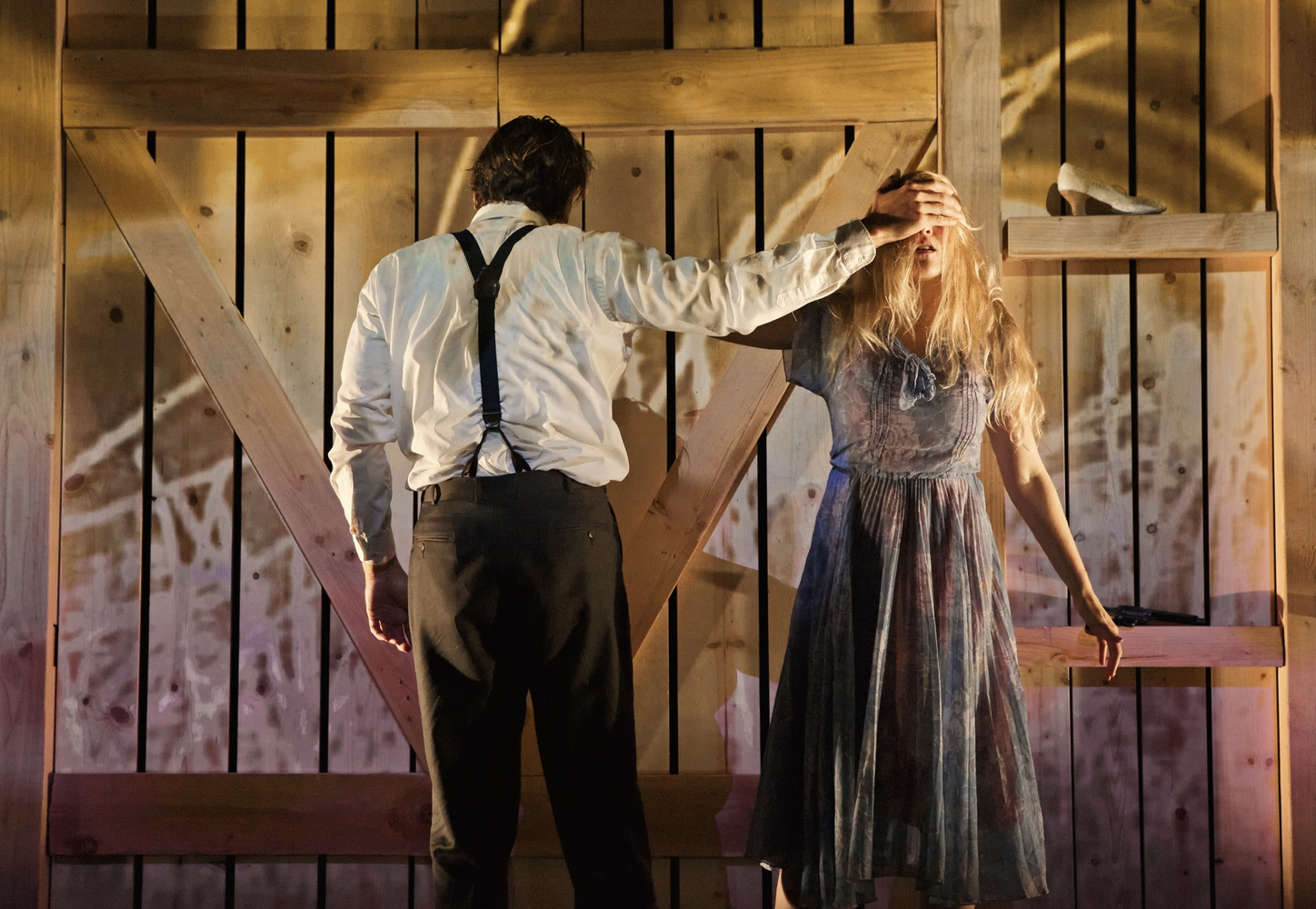 """Two actors weave a mesmerizing spell on an almost bare stage in the Shotgun Players'    Bonnie & Clyde   … Tight and compelling…""      SAN FRANCISCO CHRONICLE"