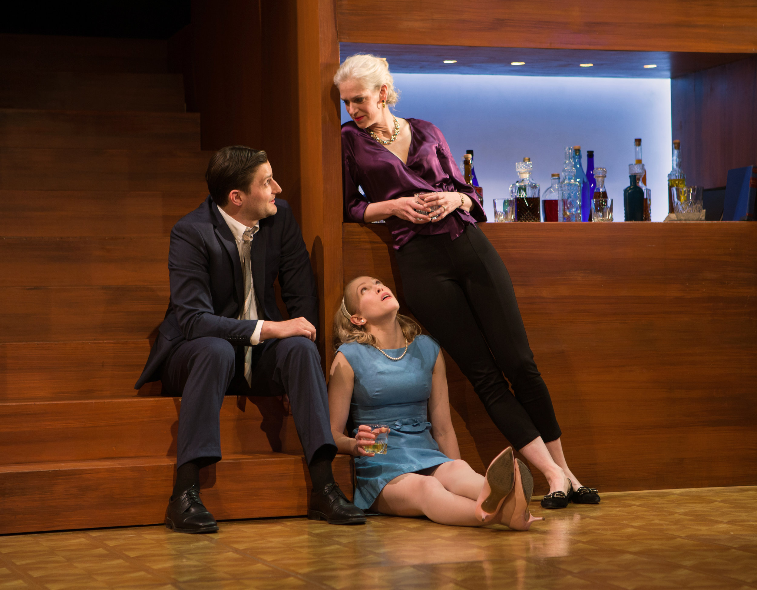 """""""Superb direction, an intensely talented cast, and an unusual but creative production...Time and again, Mark Jackson as Director squeezes out every possible drop from Albee's juicy script...""""     THEATRE EDDYS"""