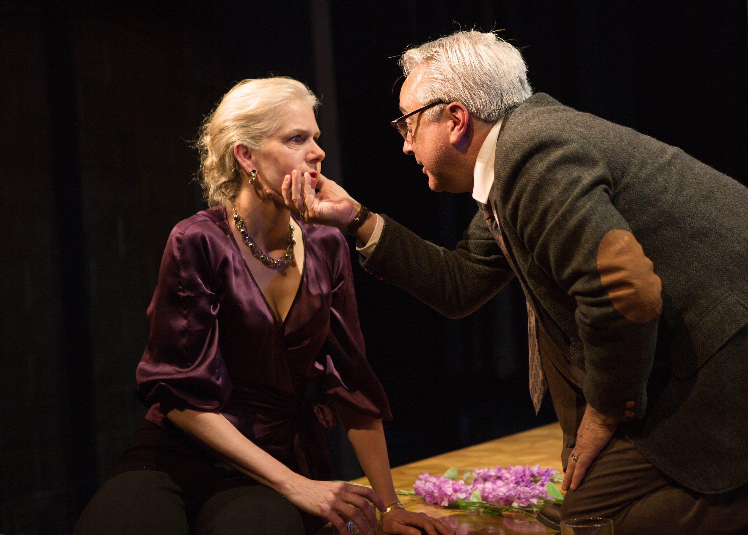 """""""I was blown away by this production...Mark Jackson has staged a very impressive revival of Albee's most brilliant and hellish play.""""     TALKINBROADWAY.COM"""