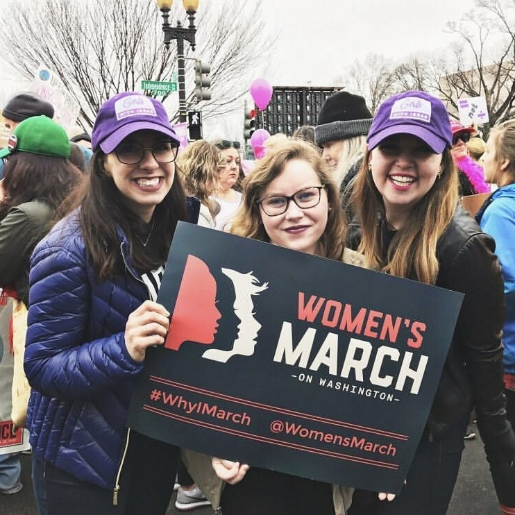 Here we are at the 2017 Women's March on Washington!
