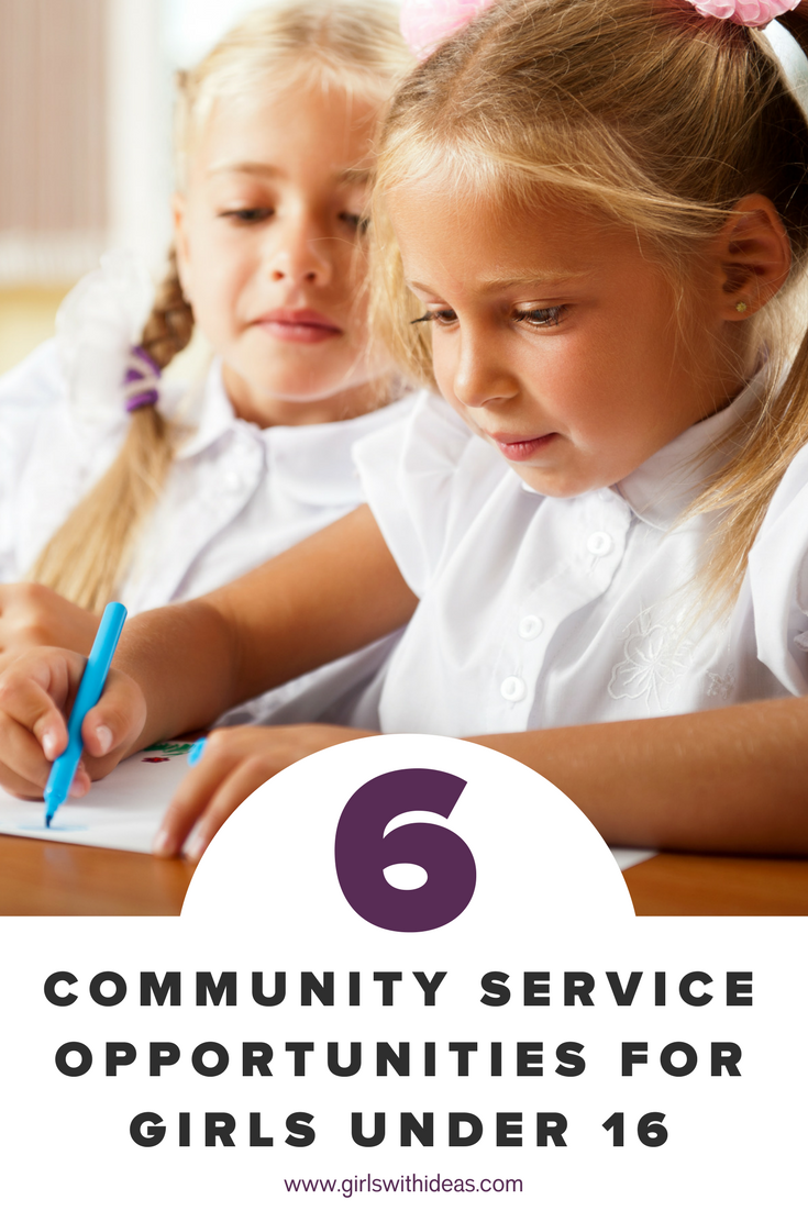 10 Community Service Opportunities For Girls Under 16 from   www  .  girls    withideas  .  com