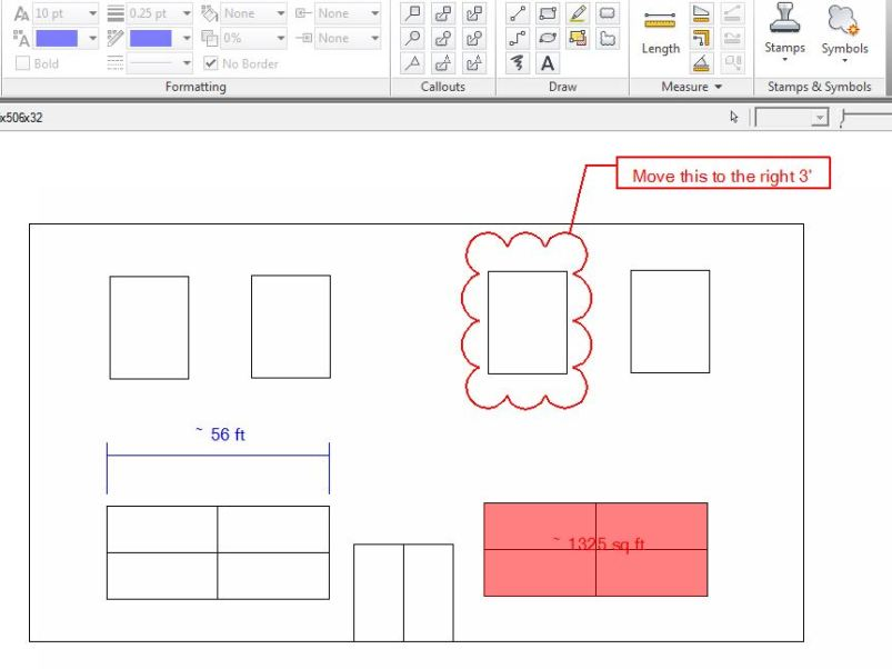 Not to brag, but I designed and drew this beautiful office building all by myself. Impressed? You can obviously use any DWF or DWG file that you have access to.