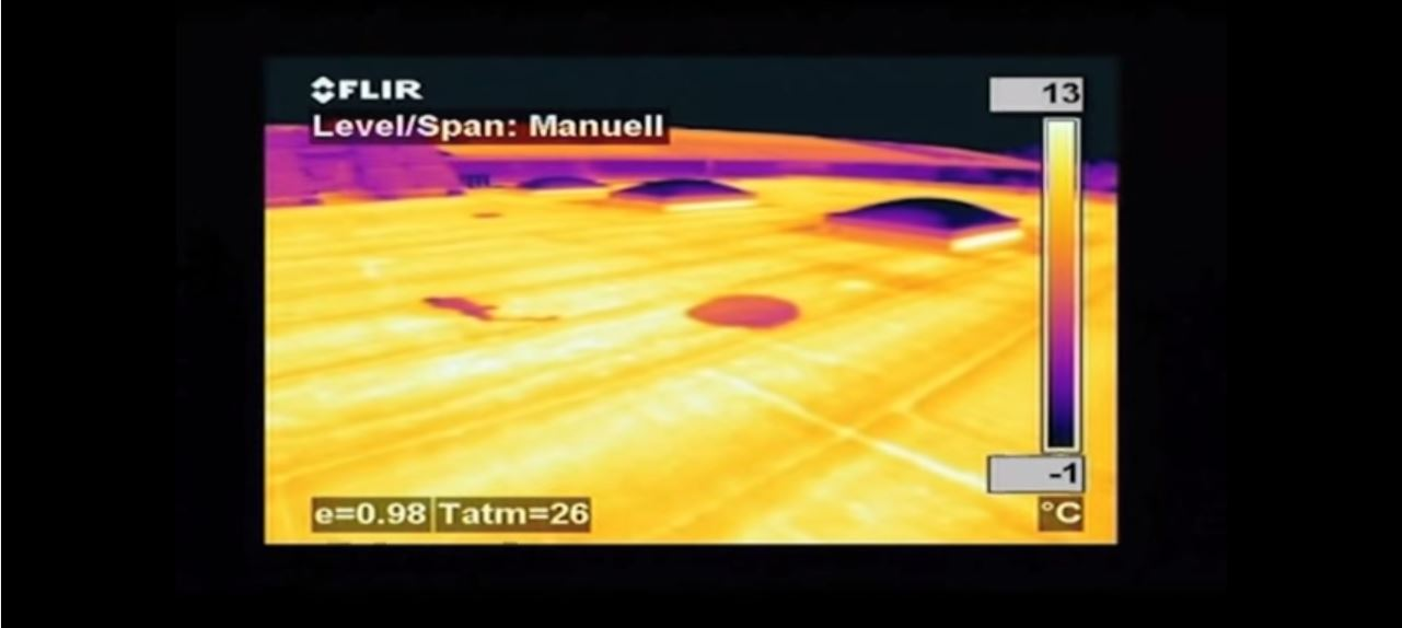 thermal image roof