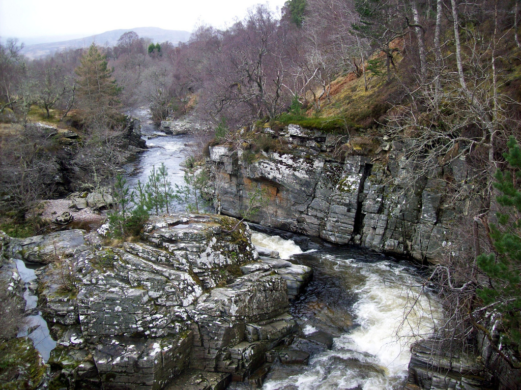 A view from the bridge in Ruthvern, Scotland. Photo by  summonedbyfells ,  CC BY 2.0