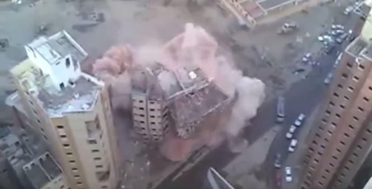 building demolition gone wrong