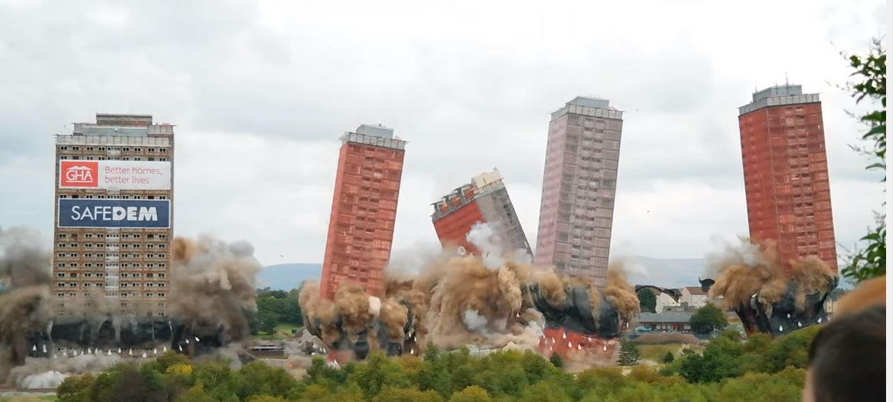 red road flats demolition