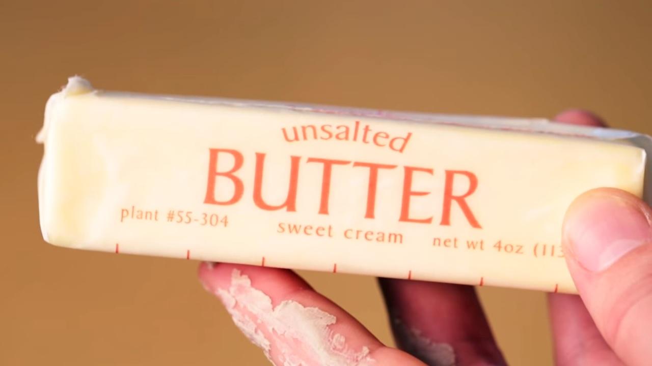 butter to remove caulk