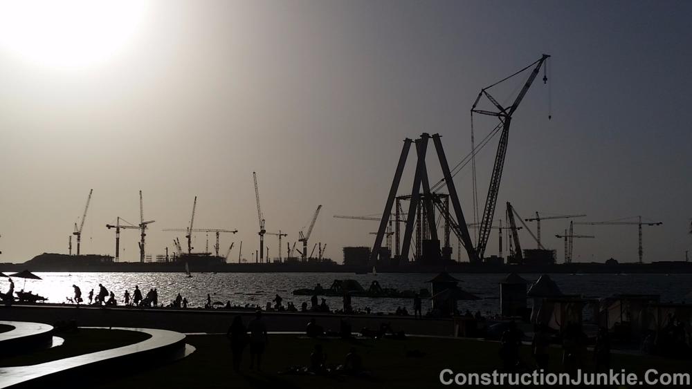 Dubai Eye under construction