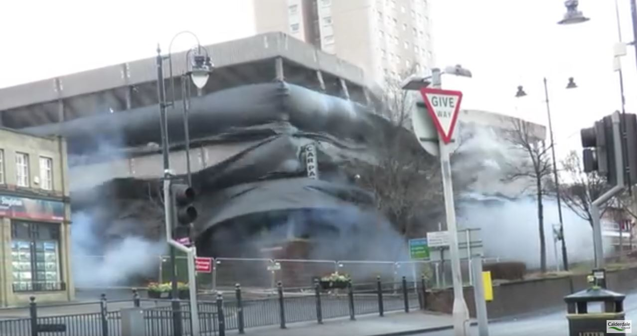 parking garage implosion