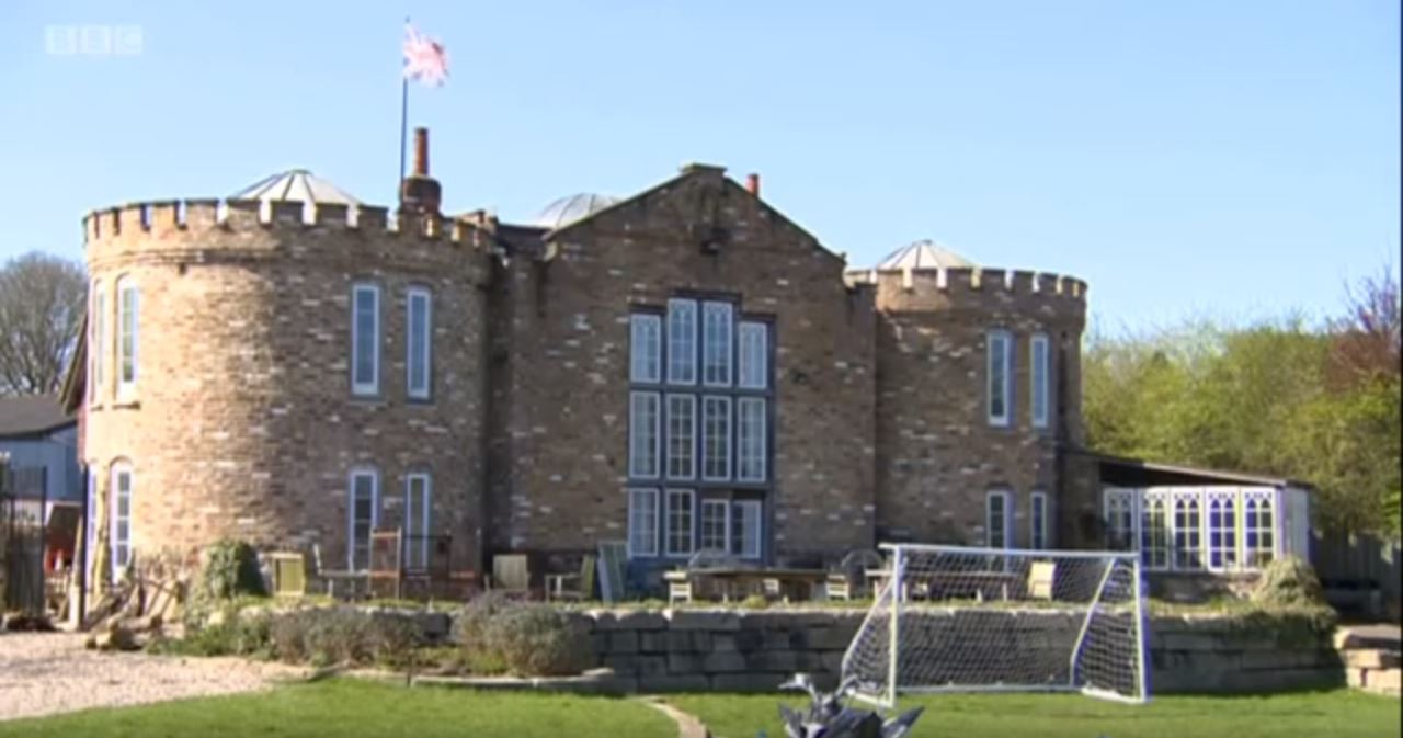 hay bale castle