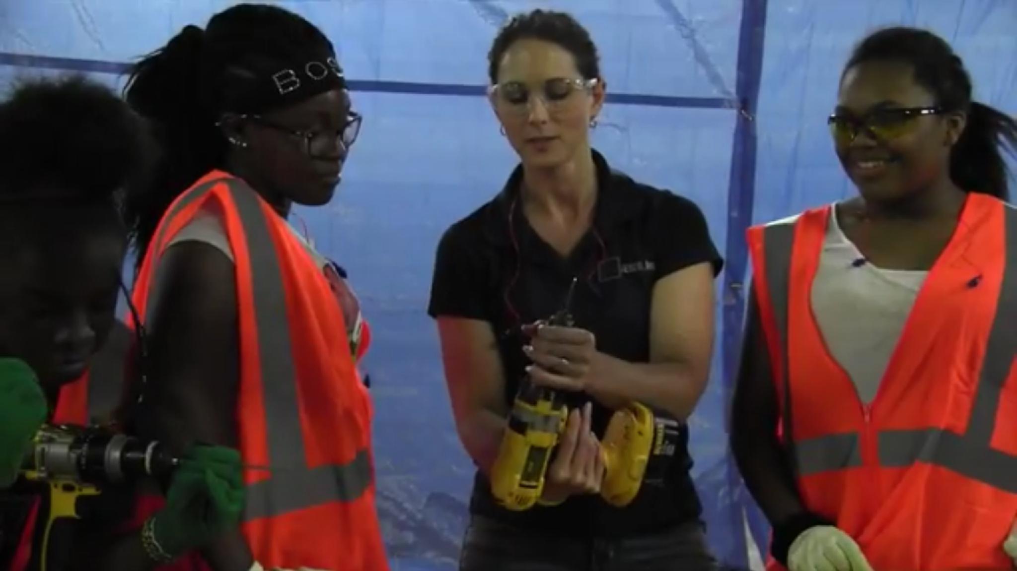 female construction summer camp