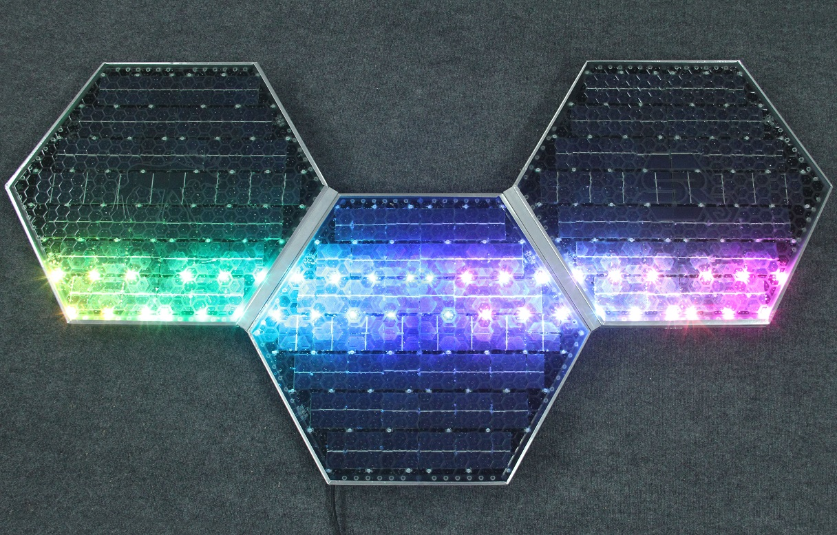 Example of different light options. Image courtesy of  Solar Roadways