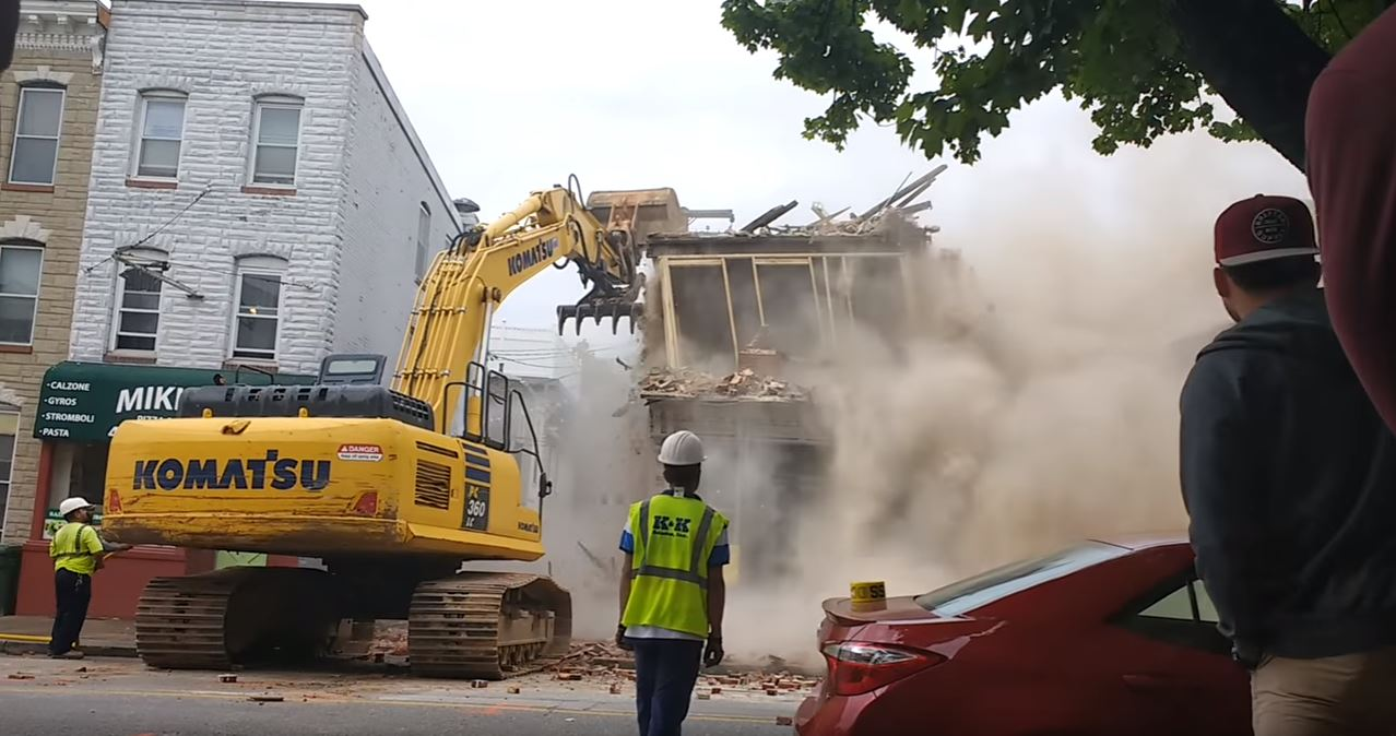 baltimore demolition accident 2017