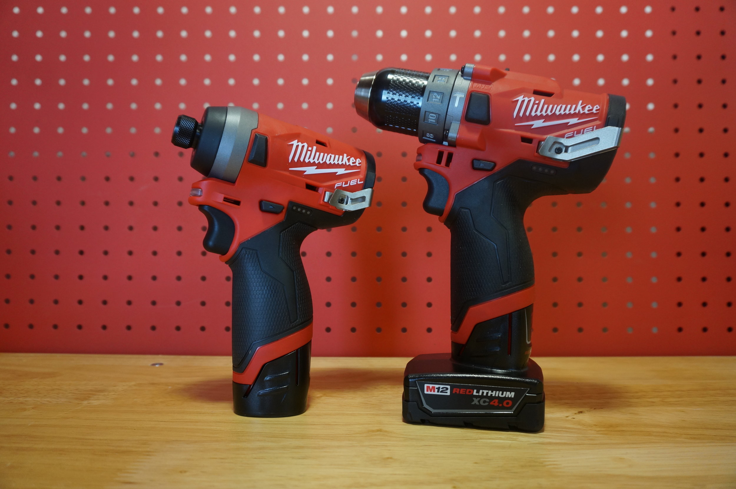 MIlwaukee Tool's Gen 2 M12 Fuel Impact Driver (left) and Hammer Drill (right)