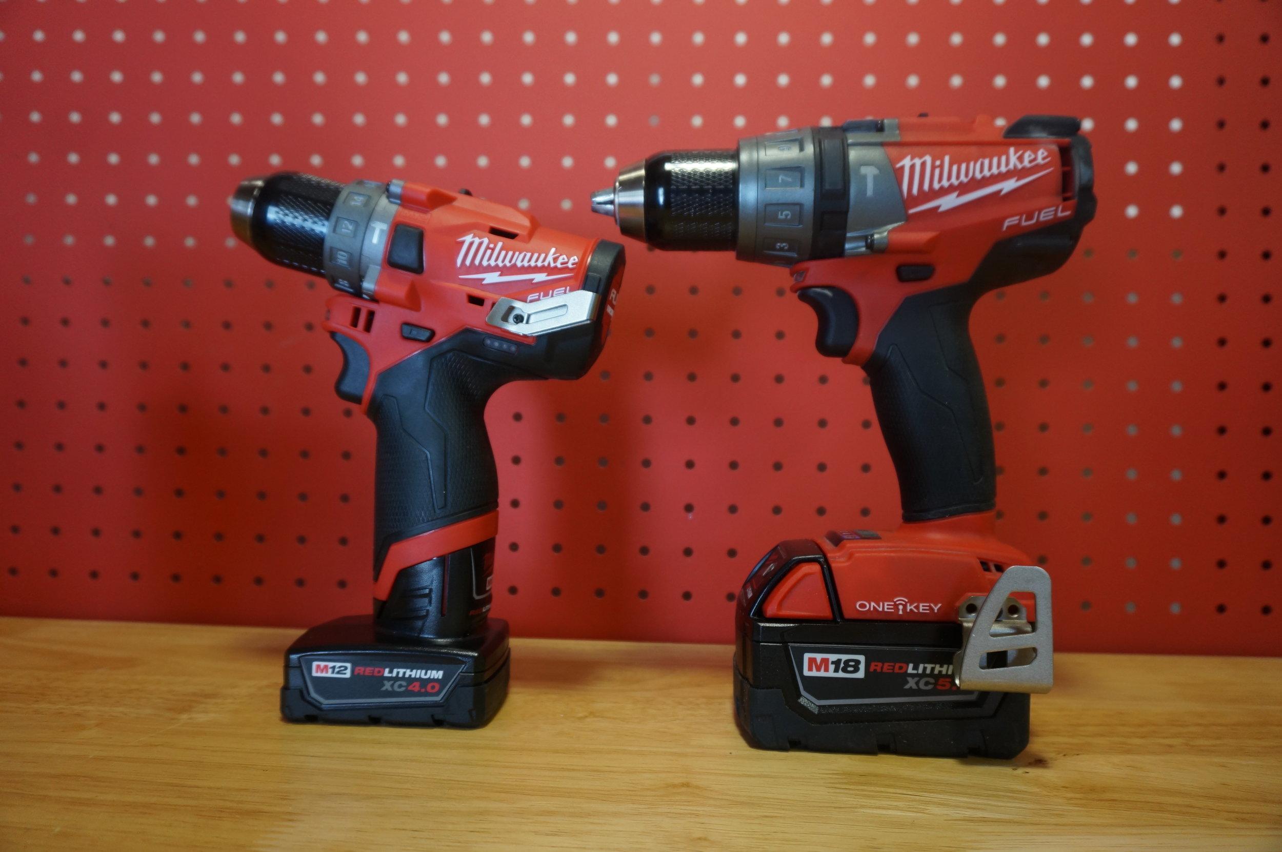 M12 Hammer Drill vs. M18 Hammerdrill