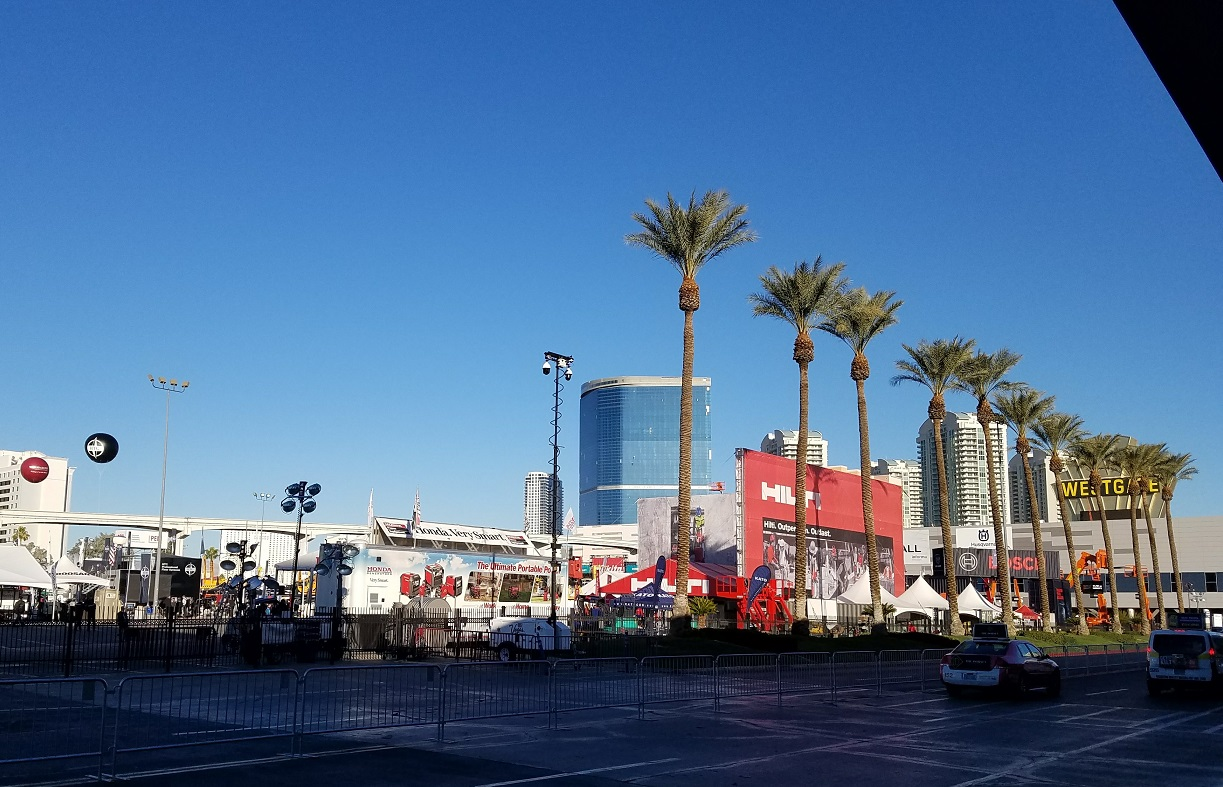 Outside lot at the World of Concrete 2018