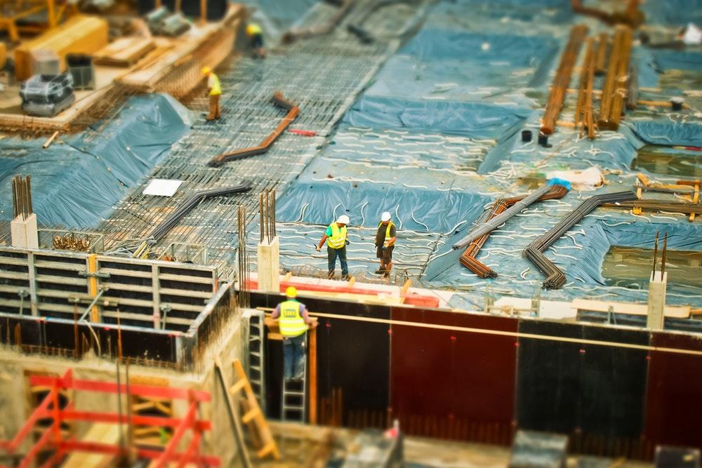 construction site build construction work