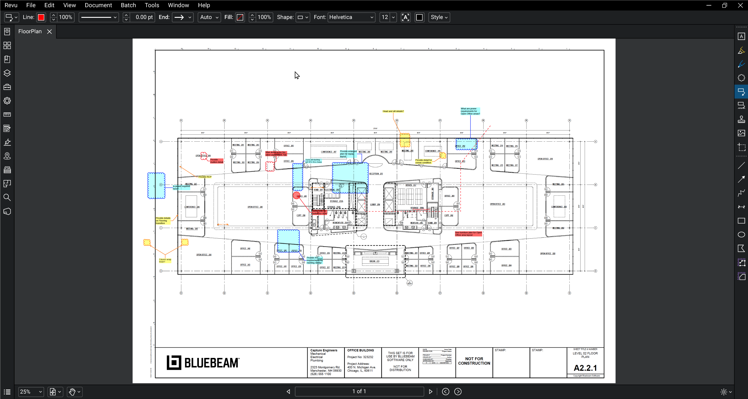 Bluebeam's new redesigned interface. Courtesy of Bluebeam